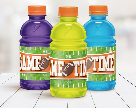 Football 12oz Gatorade Wrapper - Bowl Party, Football Drink Label,Sport Party, Sport Drink |  DIY Instant Download PDF Printable
