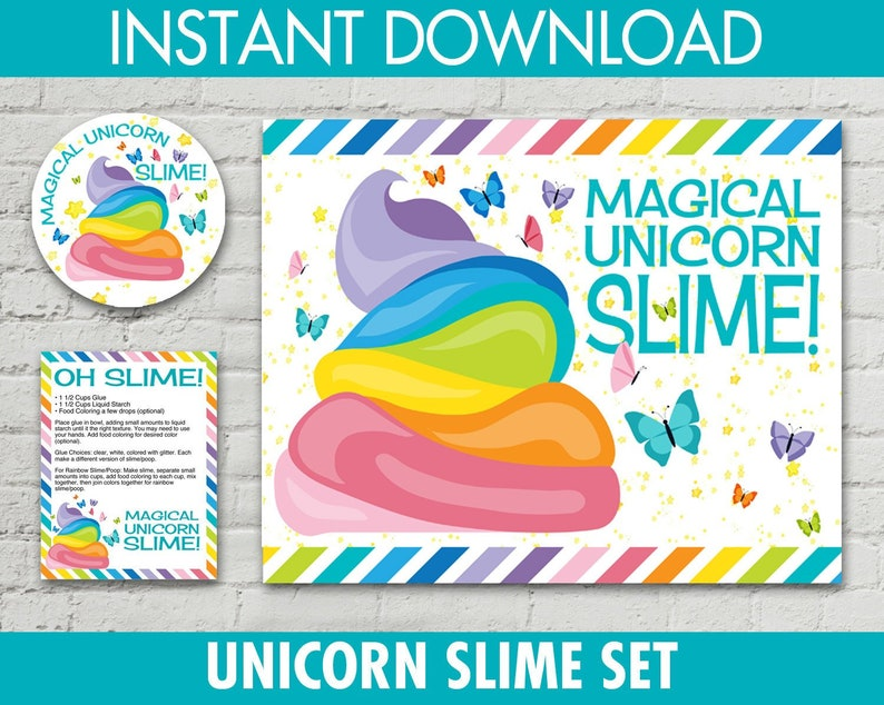 Unicorn Slime Set - 2 5
