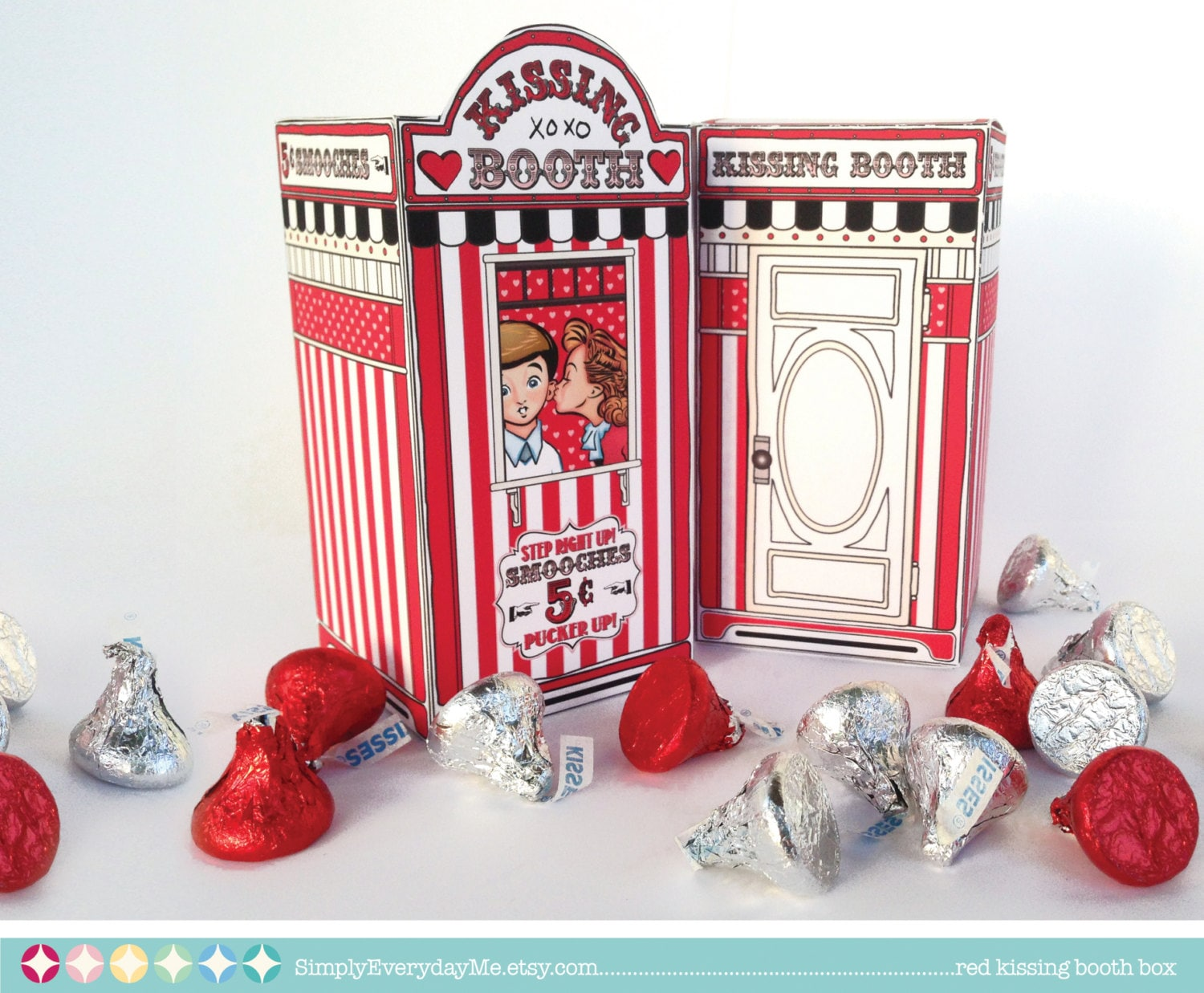 Kissing Booth Box - Carnival Party, Wedding, Birthday, Baby Shower ...