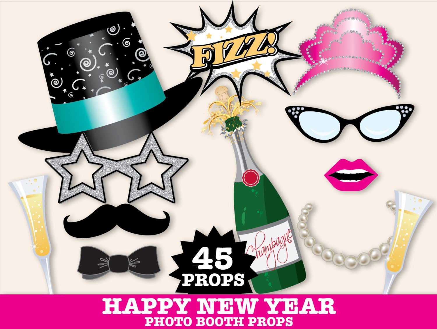 New Years Eve Photo Booth Props New Years Eve Party New Years