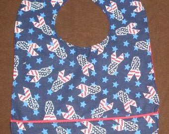 Patriotic Ribbons waterproof bib