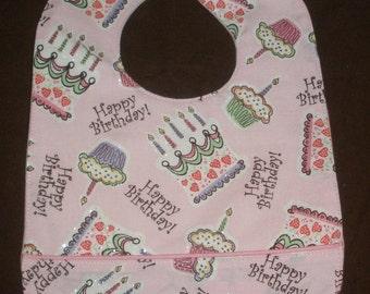 Birthday Cakes waterproof bib