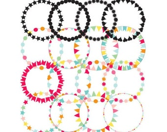 Circle frames , round borders , page borders , clipart borders , borders for word , frame clipart , picture frame clipart