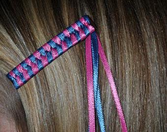 Braided Ribbon Barrettes - Set of 2 Barrettes