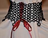 Hand made tatted chocker necklace, lace necklace, corset style necklace
