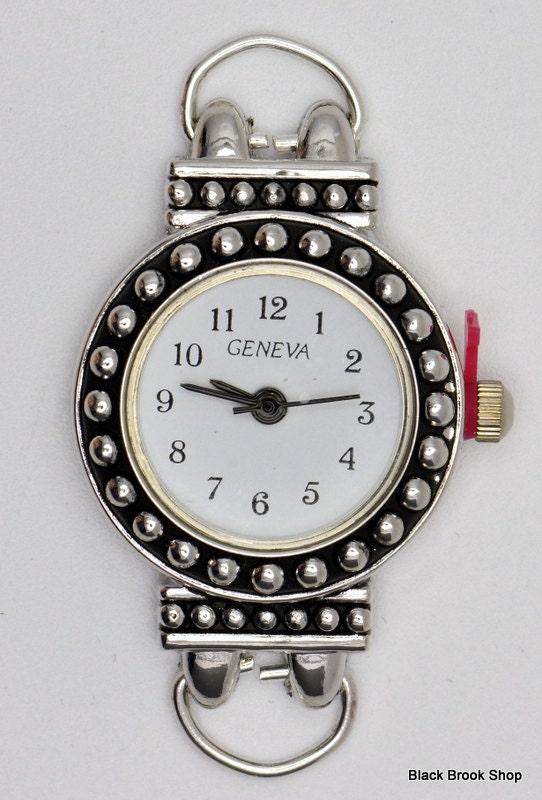 Tour de cadran cadran cadran de montre   Blanc cadran de montre   Cadran de montre en argent   Cadran argent pour femmes   Perles de cadran de montre   Mesdames montre en Face - WF00103 f1597f