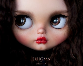 RESERVED ----- Enigma - BCEU 2018 - original custom Blythe doll - ooak blythe -  unique art doll by KarolinFelix
