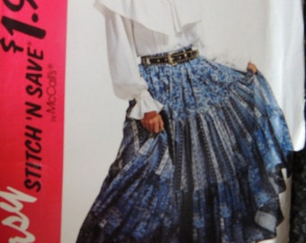 McCalls Easy Stitch N Save 6914 in Skirt and Top  Sizes XS-M