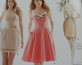 Simplicity 1353 Dresses by Leanne Marshall in sizes 12-14-16-18-20