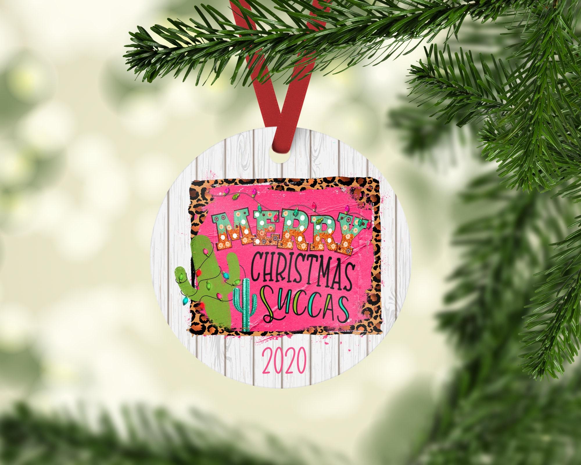 Merry Christmas Succas Christmas Ornament Christmas Ornament Succulent Christmas Ornament