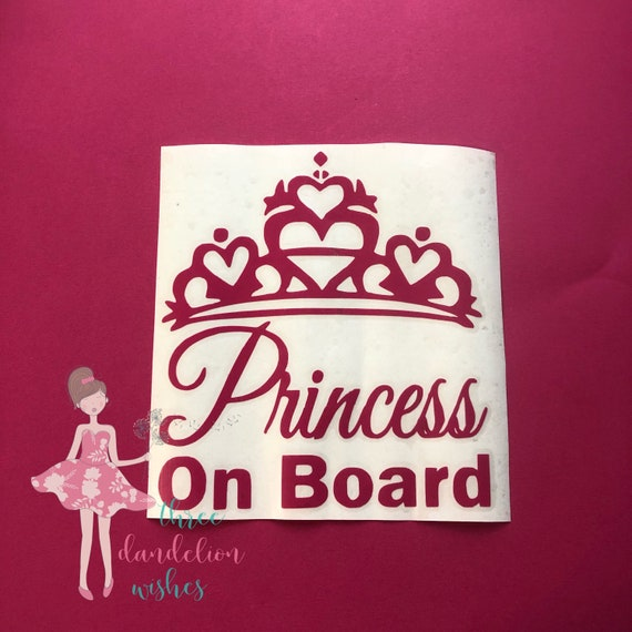 Strong-Willed Non Personalised Child/baby On Board Car Sign ~ My Princes On Board ~ D.blue Baby Safety & Health Baby