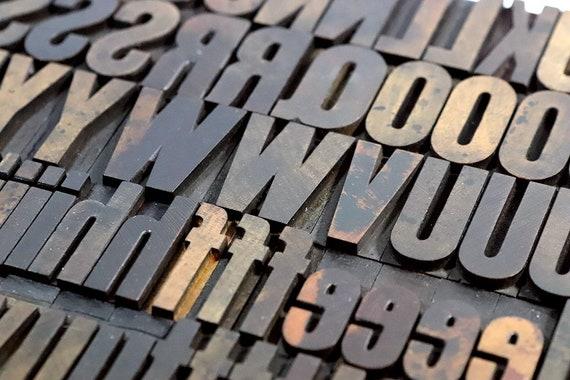 Printers Type 1-516 Wooden Letterpress YOU PICK