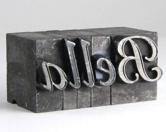 BELLA - 60pt Vintage Metal Letterpress
