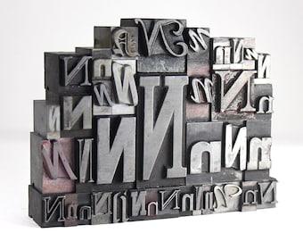 Letter N Set - Vintage Metal Letterpress