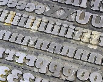 YOU PICK - 60pt Metal Letterpress - Cooper Black