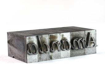 AMANDA - 36pt Vintage Metal Letterpress