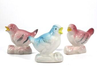 Set of 3 Ceramic Birds
