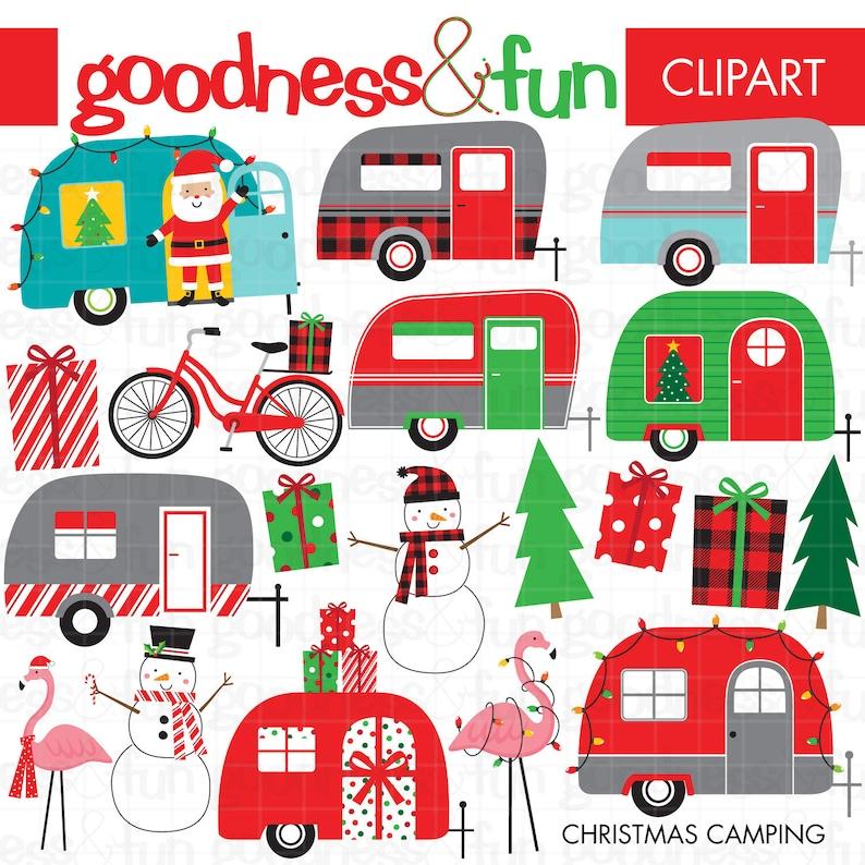Buy 2 Get 1 Free Christmas Camping Clipart Digital Etsy
