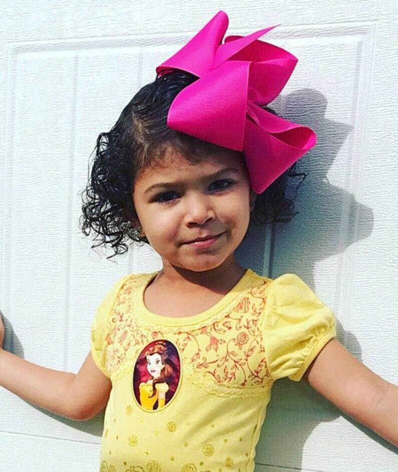 618bcd3dd54b Super Size 7 Hair Bow Dark Pink Grosgrain Ribbon XXL | Etsy