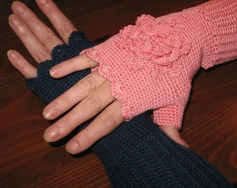 Crocheted Fingerless Gloves Pattern