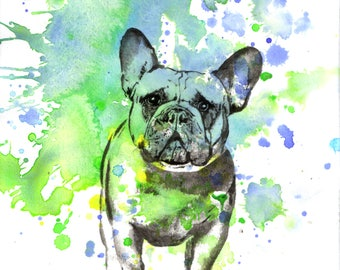Custom Pet Portrait Painting Custom Dog Portrait Painting Dog Painting Print Custom Watercolor Painting Great Gift Idea Unique Gift