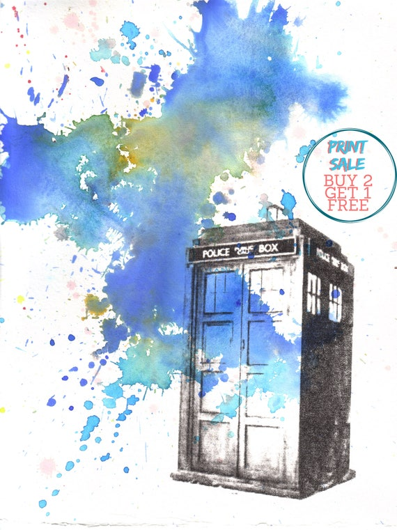 Doctor Who Wall Art Gift For Doctor Who Fan Doctor Who Poster Doctor Who Decor Doctor Who TARDIS Canvas Print Doctor Who Painting