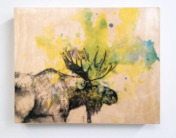 Moose Painting Animal Art Print From Original Watercolor