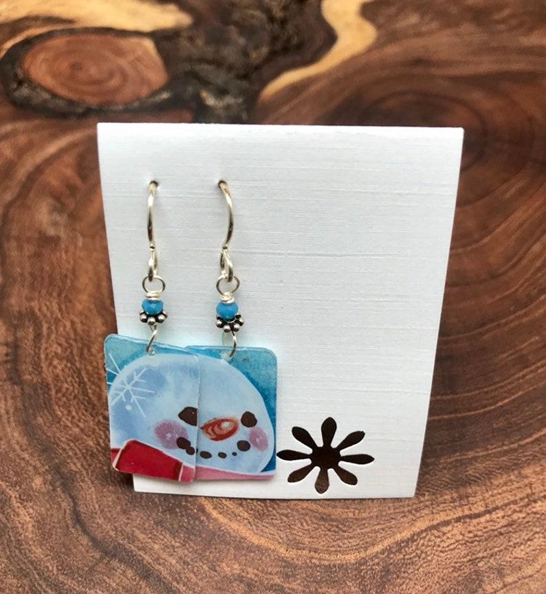 Starbucks Gift Carf Earrings Snowman