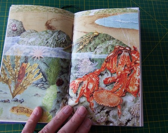 Vintage Book, Journal, Notebook, Junk Journal or Diary: Gifts of the Sea