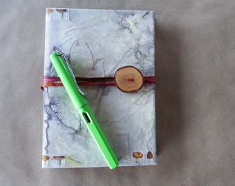 Ecoprint Altered Book Journal or Notebook Beauty of Nature