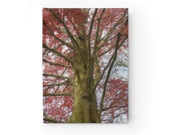 Tree Journal Copper Beech - Blank Journal - Unlined Writing Book - Unlined Journal - Hardcover Journal