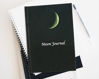 Crescent Moon Journal - Blank Writing Book - Hardcover Moon Journal - Blank Moon Journal - Unlined Journal