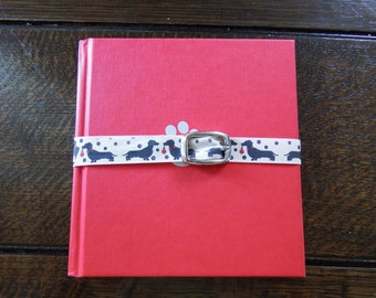 Dog-Themed Altered Book Journal or Notebook OOAK