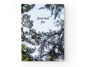 Tree Journal Notebook or Diary that can be Personalised - Blank pages Hard Cover