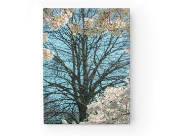 Cherry Blossoms Journal - Blank Journal - Unlined Writing Book -- Cherry Tree Journal - Hardcover Journal Notebook