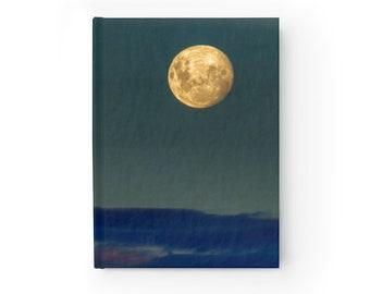 Full Moon Journal - Blank Writing Book - Hardcover Moon Journal - Blank Moon Journal - Unlined Journal