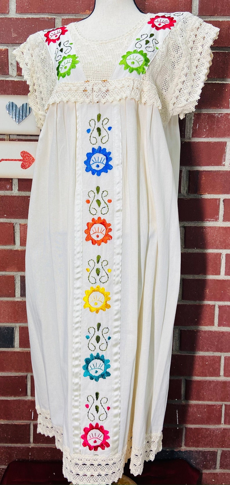 Gorgeous and Comfortable Manta DressTunic with Lovely Delicate Hand Embroidery