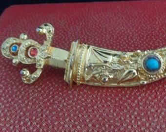 Vintage Steampunk Exotic Sword Pin