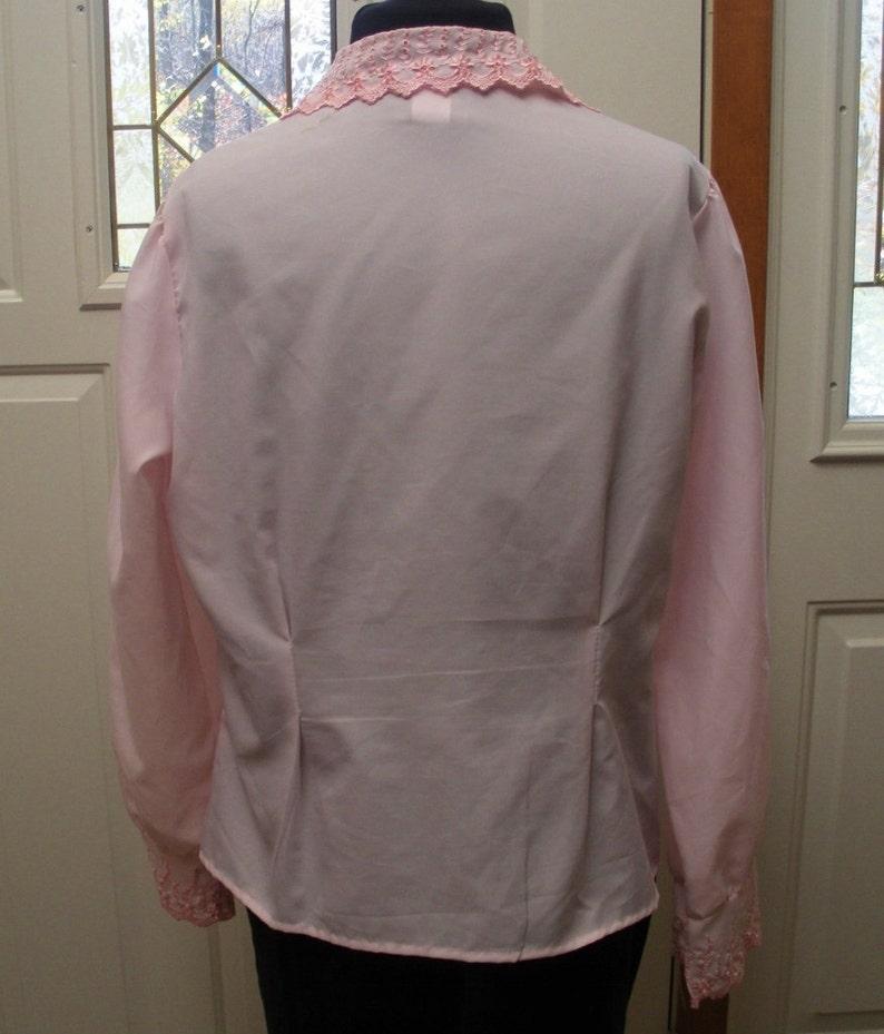 74429f41c689ee Vintage Rhapsody Pink Eyelet Blouse Size Large | Etsy