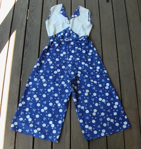 Vintage 1930s Blue & Cream Beach Pajama Lounging P