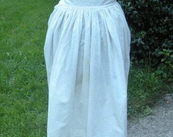 Antique Vintage Pin Tucked Eyelet Petticoat