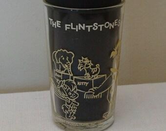 Vintage Flintstone Drinking Glass