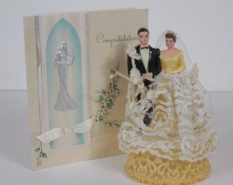 1950 Vintage Original Wedding Cake Topper Perfect