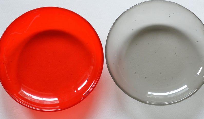 Platter Set Custom large glass dinner platters monocolor dinner platters Murano glass spring plates Custom plate set 24 colors
