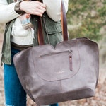 Leather Bag / Oversize Bag /  Gray Leather Bag / Leather Handbag / Tote Leather Bag / Totes / Women Gifts