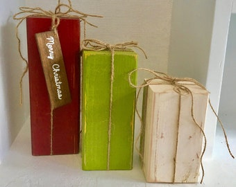 Rustic Christmas Wood Christmas Trees Tree Shelf Sitters