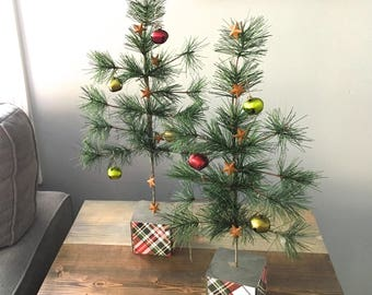 christmas tree table top artificial tree jingle bells plaid trees trees for mantle christmas decor small christmas tree - How To Decorate A Small Christmas Tree