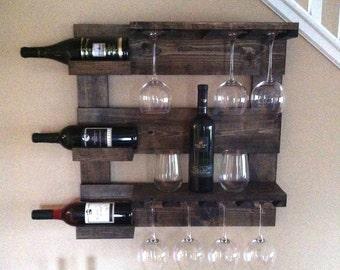 Wine Rack Michigan Wine Rack State Glass Holder Wine Bottle Etsy