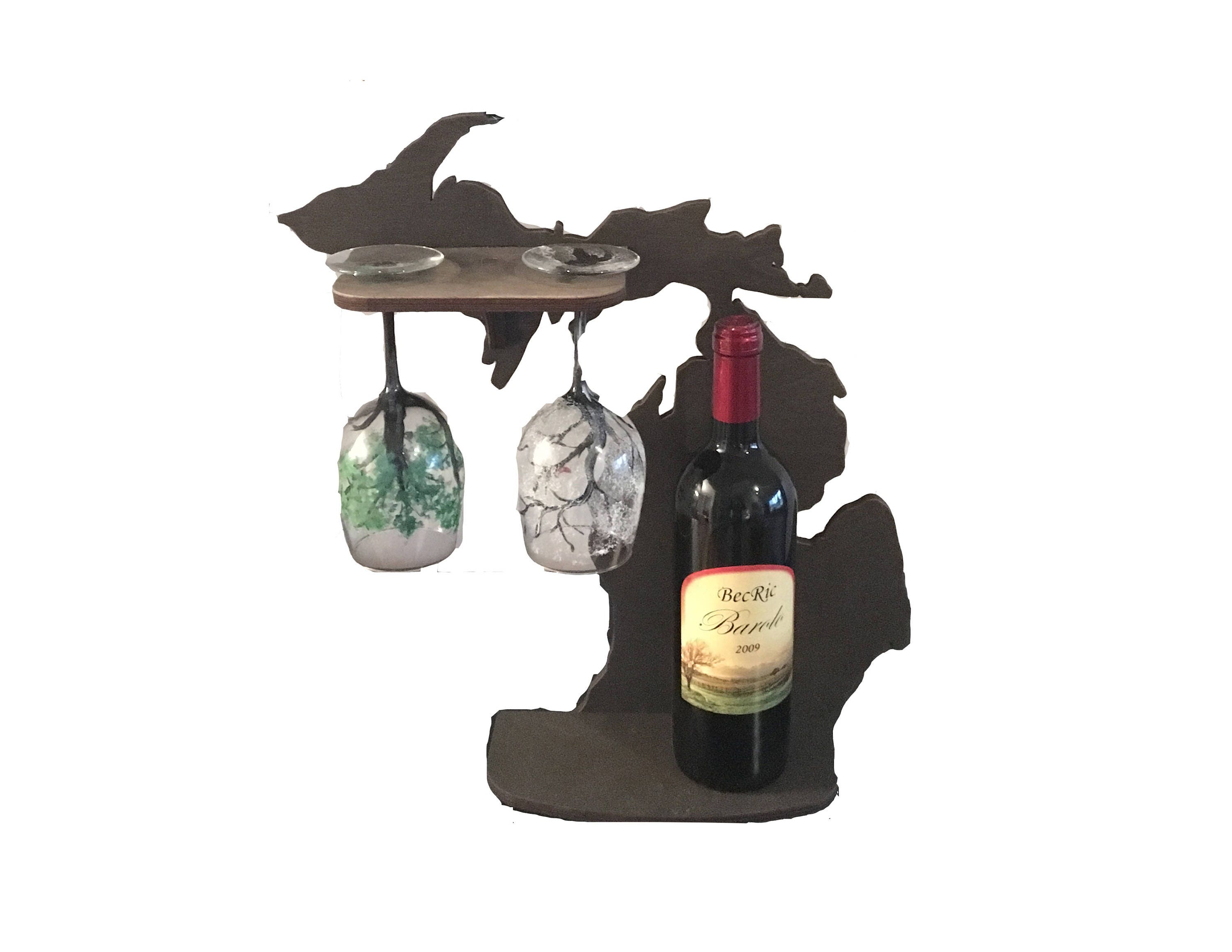 Wine Rack Michigan Wine Rack State Glass Holder Wine Bottle Etsy