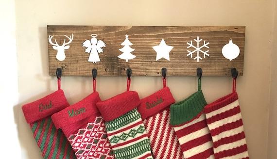 Family Stocking Hooks Hanging Stocking Stocking Hanger Etsy